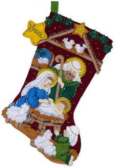 Felt Applique Christmas Stockings and Ornaments - 123Stitch.com