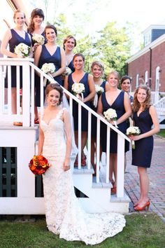 obsessed with navy bridesmaids dresses