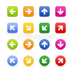 Look more my images http://www.istockphoto.com/search/portfolio/4680678/#2af6265 — Arrow sign web button icon with shadow on white background. Attached ZIP folder contains 8 variation color (16 files). Keyword: Interface Push Cursor Symbol Computer Set Circle Square Direction right Down Green Blue Arrowhead Next Orange Up Rectangle Yellow Red Sign Directional Satin Pink Magenta web design Internet Icon web icon Gray Connection #royalty #free #stock #vector #illustration $6 to $8.35 per…