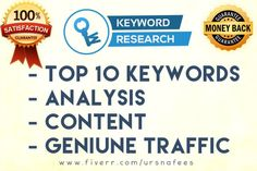 do indepth KEYword Research for your niche or business by ursnafees