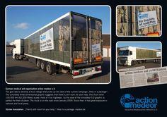 Action Medeor e.V.: Truck, Medical Aid Organisation, Action Medeor, Printwerbung, Außenwerbung, Kreative Werbung
