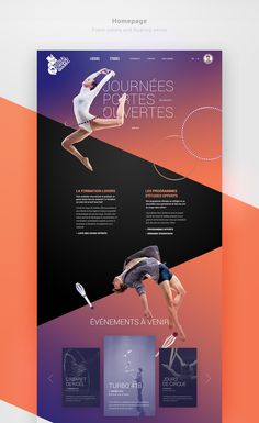 Visual Redesign Exploraiton for L'École de Cirque de Québec