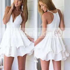 Looking for best Homecoming Dresses Aline Bridal Provide you large variety in the collection of Elegant Homecoming Dresses available in many styles designs, & colors. White Ruffle Dress, White Chiffon, Chiffon Dress, Cute Dresses, Short Dresses, Summer Dresses, Short Sundress, Best Homecoming Dresses, Look Boho