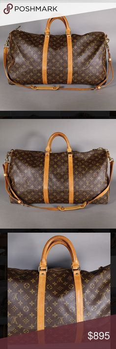 Louis Vuitton Keepall 55 Bandouliere w/ Strap * Ships same or next day *  * Reasonable offers welcome *   Date Code: VI 863  - Bag is in great condition overall with no cracking to vachetta strips, strap, or handles noticed  - Please see last photo for the full, detailed description! Louis Vuitton Bags Travel Bags