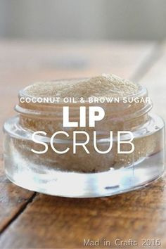 Coconut Oil, Honey & Brown Sugar Lip Scrub