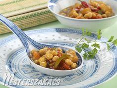 Édes-savanyú csicseriborsó recept Wok, Vegetables, Red Peppers, Veggies, Vegetable Recipes