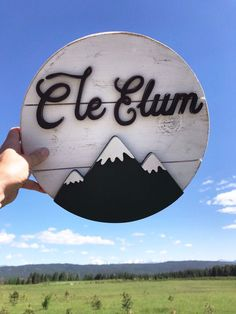 Excited to share this item from my #etsy shop HOMETOWN MOUNTAIN SHIPLAP SIGN