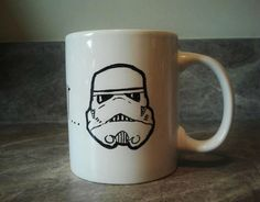 "Storm Trooper coffee or tea mug - Star Wars - ""these aren't the droids you're looking for"" by FandomFox on Etsy https://www.etsy.com/listing/117952581/storm-trooper-coffee-or-tea-mug-star"