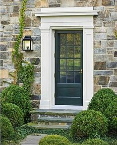 Beautiful Farmhouse Front Door Entrance Decor And Design Ideas 22 Black Doors, House, House Exterior, Front Door, Stone Houses, Beautiful Doors, Entrance Decor, Exterior Doors, Doors