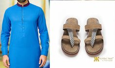 #styletips This #achillesheel beige nu-buck and teal Moroccan detailing leather slim fit sandals will speak a lot about your #persona when clubbed wid #kurta on festive occasion #fashion #mensfashion #footwearfashion #houseofAH #niraliruparel #NlovewithAH #achillesheelshoes