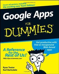Bestseller Books Online Google Apps For Dummies Ryan Teeter, Karl Barksdale $16.39  - http://www.ebooknetworking.net/books_detail-0470189584.html