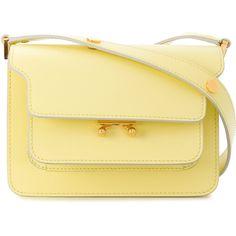 Marni mini Trunk bag (7,090 MYR) ❤ liked on Polyvore featuring bags, handbags, shoulder bags, mini purse, leather purse, satchel handbags, leather handbags and leather satchel