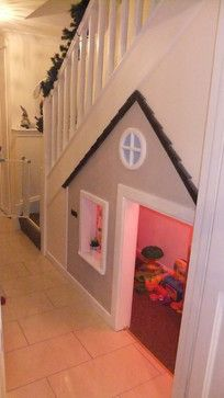 Storage heaven: make use of the space underneath the stairs. A kids play house. - Storage heaven: make use of the space underneath the stairs… A kids play house!