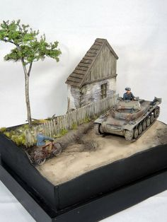 Panzer II C 1/35 Scale Model Diorama