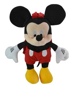 Look what I found on #zulily! Mickey Mouse 14'' Plush Backpack by Mickey Mouse #zulilyfinds