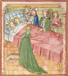 Elisabeth <Nassau-Saarbrücken, Gräfin, 1393-1456> Herpin — Stuttgart (?) - Werkstatt Ludwig Henfflin, um 1470 Cod. Pal. germ. 152 Folio 125v