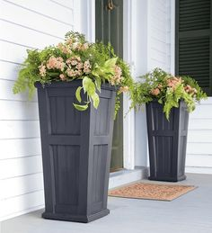 Tall Unique Pot Planters for Front Porch Decor Ideas