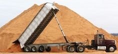 A truck dumps a load of silica sand at Modern Transport Rail loading terminal Monday, Feb. 13, 2012, in Winona. There is approximately 40,000 tons of sand stored on site.