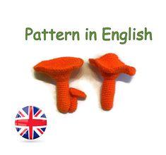 Pattern amigurumi Chanterelle * Pattern crochet mushroom * Saffron milk cap #Amigurumi #tutorial #PDF  #crochet #food #pattern
