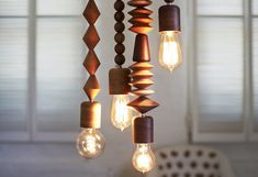 Versatile Bright Beads Wooden Pendant Lights For The Home