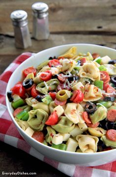 Have you ever tried making a pizza pasta salad? It's delicious! And so simple to modify based on the crowd that you're feeding.
