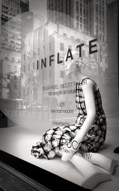 art installation by sylvia heisel and scott taylor in the windows of Saks Fifth Avenue