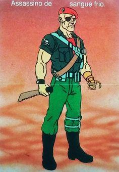 Rambo/aAlbum de figurinhas que saiu no Brasil em 1988/Gripper