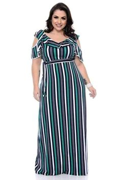 Vestido Plus Size Sonal - daluzplussize African Maxi Dresses, Latest African Fashion Dresses, African Attire, Curvy Girl Fashion, Plus Size Fashion, Yellow Pencil Skirt Outfit, Simple Dresses, Cute Dresses, African Blouses