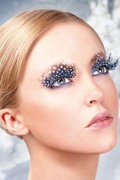 Eyelashes Feather False Jumbo Fancy Dress Accessory Drag Queen