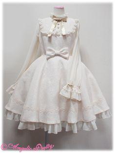 Secret Rose Princess OP by Angelic Pretty Pretty Outfits, Pretty Dresses, Beautiful Dresses, Cute Outfits, Rococo Fashion, Lolita Fashion, Kawaii Fashion, Cute Fashion, Old Fashion Dresses