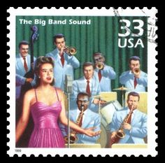 Big Band Era Postage Stamp