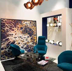 Calico Wallpaper exhibits Night 'Aubergine' in the @TomDixonStudio booth at the @IMMCOLOGNE furniture fair. Photo by @clementerosado. #tomdixon #calicowallpaper #immcologne #IMM15