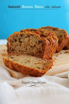 Eggless Banana Bread Recipe Bread Easy Recipes To Make Freshly Soft Eggless Banana Bread. Eggless Banana Pecan Bread They Are Moist Soft And . Eggless Cookie Dough For Preggies! Home and Family Eggless Banana Bread Recipe, Walnut Bread Recipe, Banana Walnut Bread, Eggless Recipes, Banana Bread Recipes, Cake Recipes, Eggless Baking, Vegan Baking, Drink Recipes