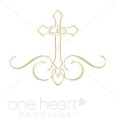 Ornate Cross Clipart | Religious Wedding Clipart