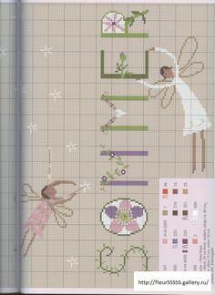 Flower Wall Hanging 3 of 3 Cross Stitch Fairy, Simple Cross Stitch, Cross Stitch Flowers, Cross Stitch Charts, Cross Stitch Patterns, Quilt Stitching, Cross Stitching, Cross Stitch Embroidery, Hanging Flower Wall