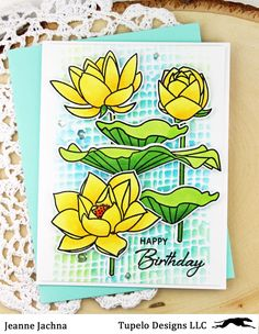Hi Friends!  I hope you're having a great day!  I'm playing with some Waffle Flower stamps from Tupelo Designs LLC !  They're my favorite ...