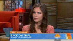 "Amanda Knox on Today Show: Amanda Knox speaks about her retrial on the ""Today"" show. On Today, Today Show, Evil People, Weird News, Local News, Trials, Amanda, Crime, American"
