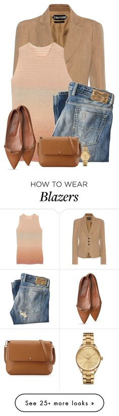 """Blazer and Jeans"" by terry-tlc on Polyvore featuring Tom Ford, Mulberry, Diesel, Lacoste and Tory Burch"