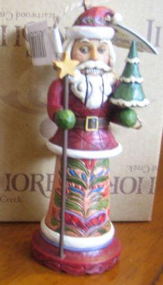 Jim Shore Santa Nutcracker Ornament  - http://collectiblefigurines.net/jim-shore/christmas/jim-shore-santa-nutcracker-ornament/