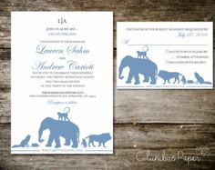 Wedding Invitations Zoo Invitations/Safari by WhoaNelliePress