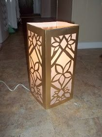 """So here is my tutorial on DIY Elven lamps from posterboard, tissue paper, and an electric (Christmas Decor) candle.   """"Moroccan..."""