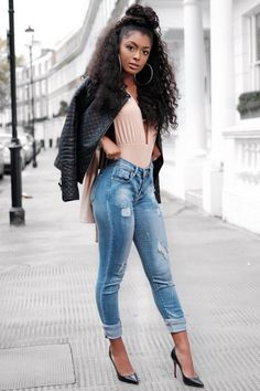 Zero BelowTop by ohpolly , Jeans by misspap , jacket by zara , Heels by louboutinworld Photo by soloviewphotography Fashion Look by Jourdan Riane