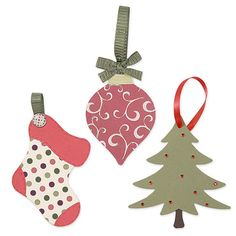 You'll love adding these tags to your die collection. The stocking, tree and ornament shapes are so perfect for the holiday season.