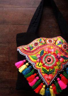 Thai textile - purse from a Thai tribal costume