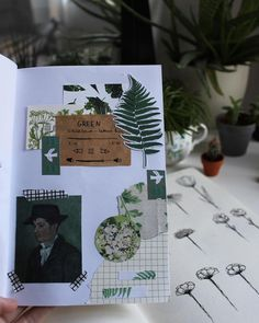 I had so much fun making this ahh, the van gogh art was on the back of my museum ticket and I used a part of my botanical garden… #travelersnotebook #journal #bujo