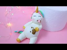 Fat Unicorn Cake! How to make fat unicorn cake topper - YouTube