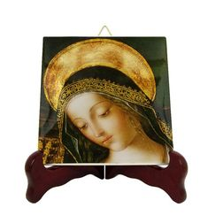 Religious icons - Blessed Virgin Mary icon on tile - Mother Mary - religious gifts - catholic art - Pinturicchio - Holy Art Catholic Gifts, Catholic Prayers, Catholic Art, Religious Gifts, Religious Icons, Religious Art, Tile Murals, Tile Art, The Good Catholic