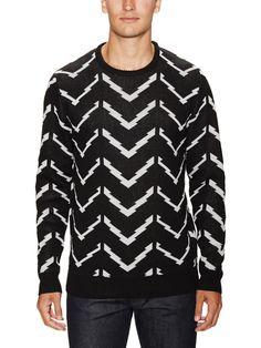 Loiter Chevron Knit Cotton Sweater