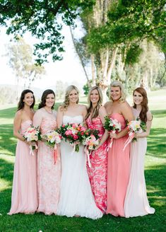 Love the bridesmaids dresses! Katie and Grey's Ojai Valley Inn Wedding