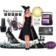 """""""Halloween Party"""" - Featuring Sistaco Poison Purple Spider ring & Sistaco Berlin clutch. Shop here: http://sistaco.com/index.php/?a_aid=megansmith  #halloween #fashion #party"""
